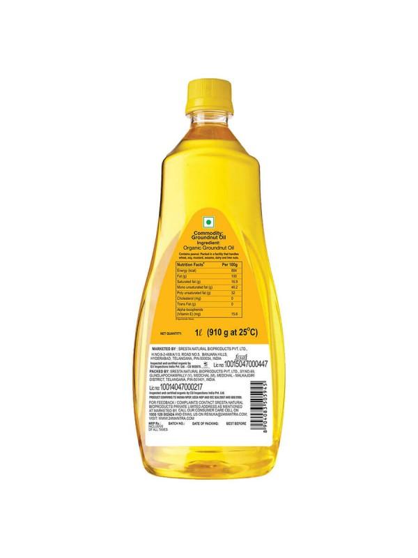 24 Mantra Cold Pressed Groundnut Oil 1 ltr
