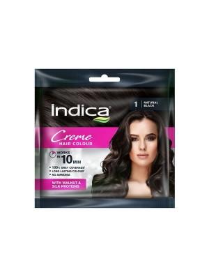 Indica Creme Natural Black Hair Color (20 ml)