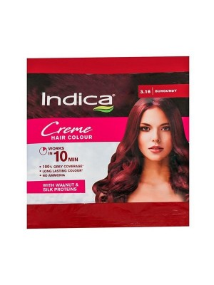 Indica Creme Hair Colour Burgundy (20 ml)