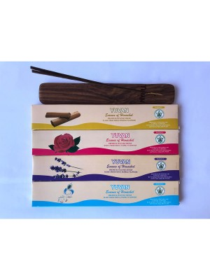 Yuvan Handmade Premium Organic Incense Sticks (Combo: Intimate Lavender Rose & Sandal) - Pack of 1