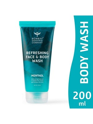 Bombay Shaving Company Refreshing Face & Body Wash With Long Lasting Fresh Burst of Coolness With Menthol - 200 ml