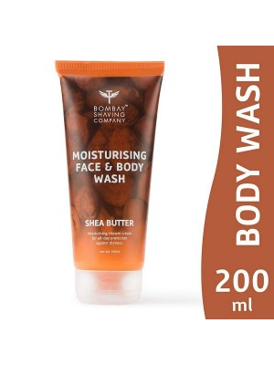 Bombay Shaving Company Moisturising Face & Body Wash With Gentle, Rich And Healing Shea Butter For Dry Skin - 200 ml