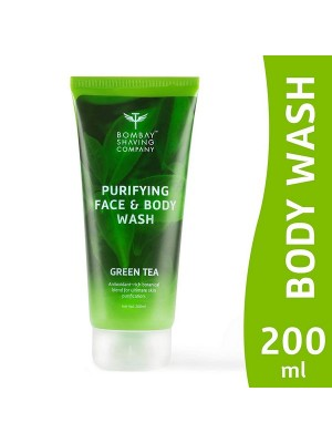 Bombay Shaving Company Purifying Face & Body Wash With Green Tea Extracts And Antioxidants For The Skin - 200 ml