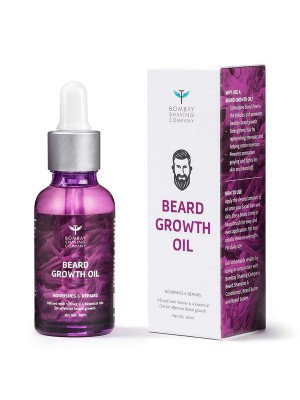 Bombay Shaving Company Beard Growth Oil For Men Infused With Vetiver And 4 Essential Oils 30 ml