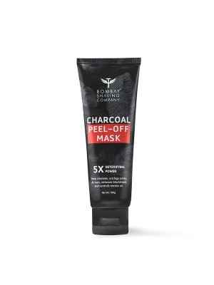 Bombay Shaving Company Activated Charcoal Peel Off Mask With 5X Detoxifying Power, Fights Pollution And De-Tans Skin - 100 gm