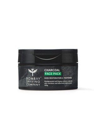 Bombay Shaving Company Charcoal Face Pack Anti-Pollution & Anti- Blackhead, No Parabens, Wash Off Face Mask, Black, 100 gm
