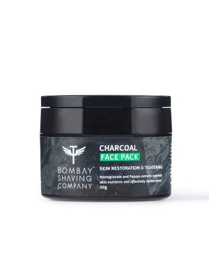 Bombay Shaving Company Charcoal Face Pack Anti-Pollution & Anti- Blackhead, No Parabens, Wash Off Face Mask, Black, 50 gm