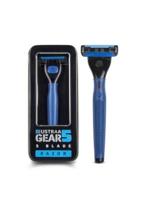 Ustraa Gear 5 Razor (Handle+Blade)-Blue