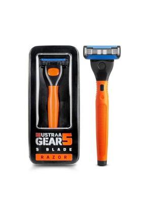 Ustraa Gear 5 Razor (Handle+Blade)-Orange