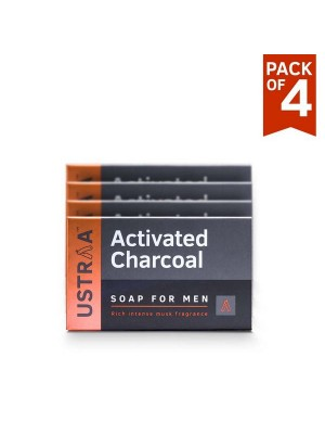 Ustraa Soap Activated Charcoal (Pack of 4)