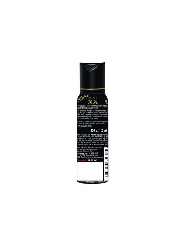 Kamasutra Double Xx Perfumed Deodorant Spray For Men - 120 ml