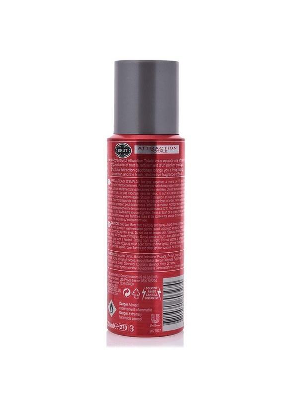 Brut Attraction Totale Deodorant Spray For Men, 200 ml