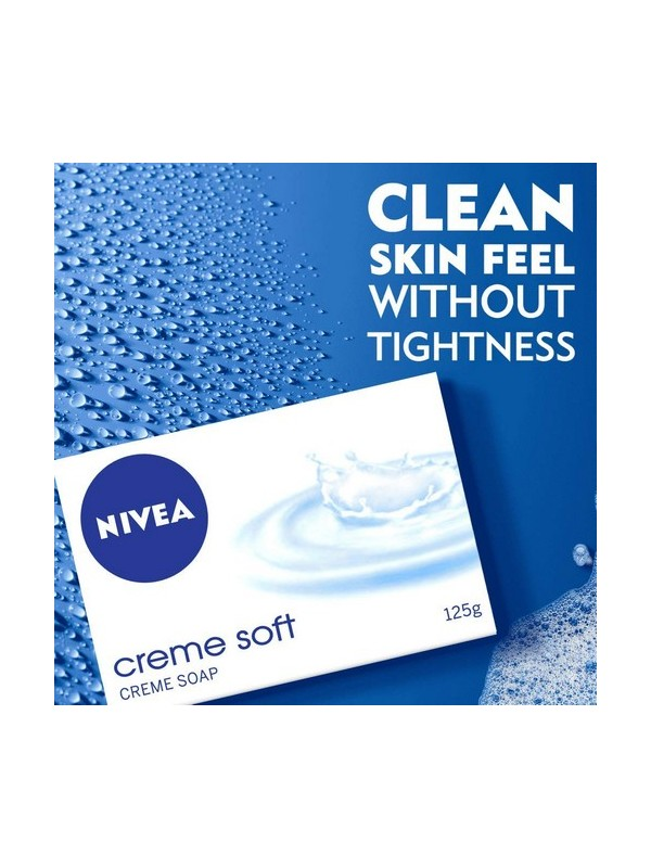 Nivea Soap Cream Soft For Hands And Body 125 gm