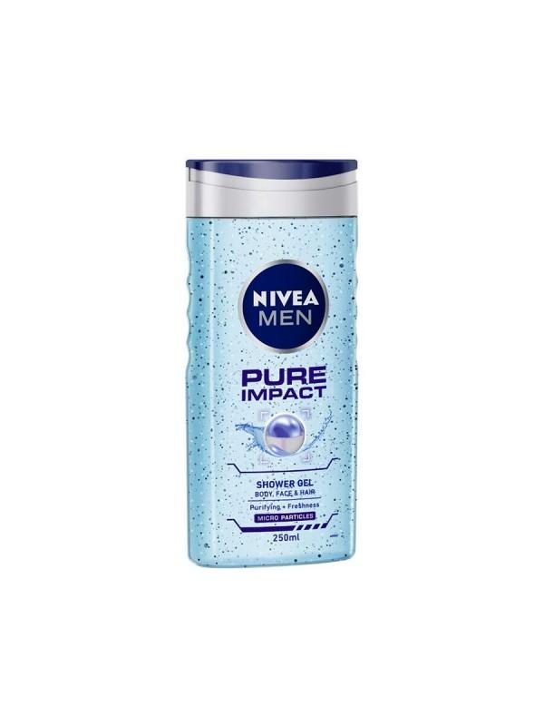Nivea Shower Gel Pure Impact Body Wash Men 250 ml