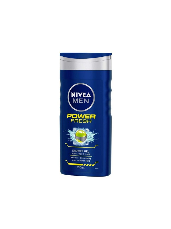 Nivea Shower Gel Power Refresh Body Wash Men 250 ml