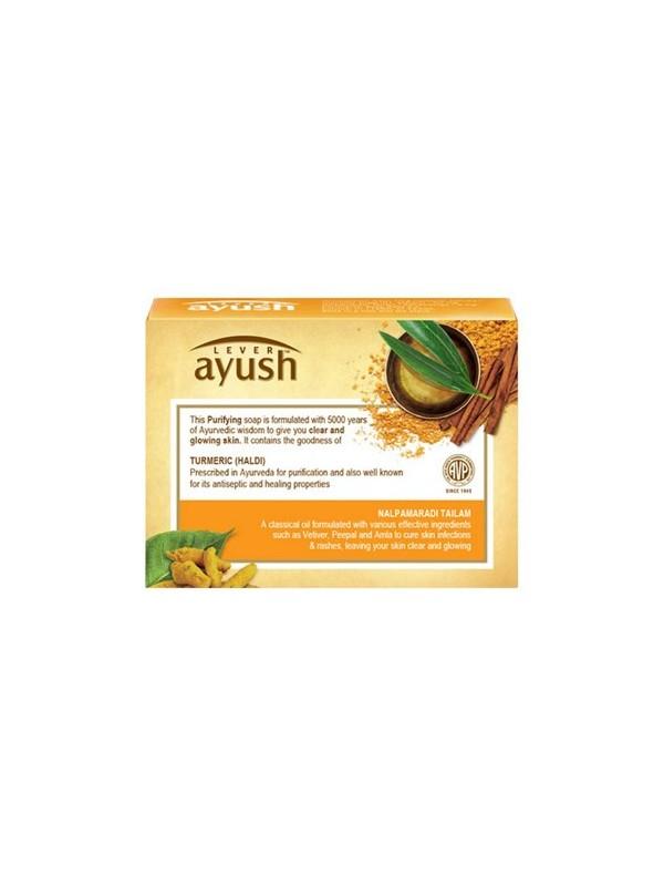 Lever Ayush Purifying Turmeric Soap 100 gm