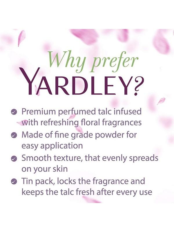 Yardley London Lace Satin Talc - 250 Gm