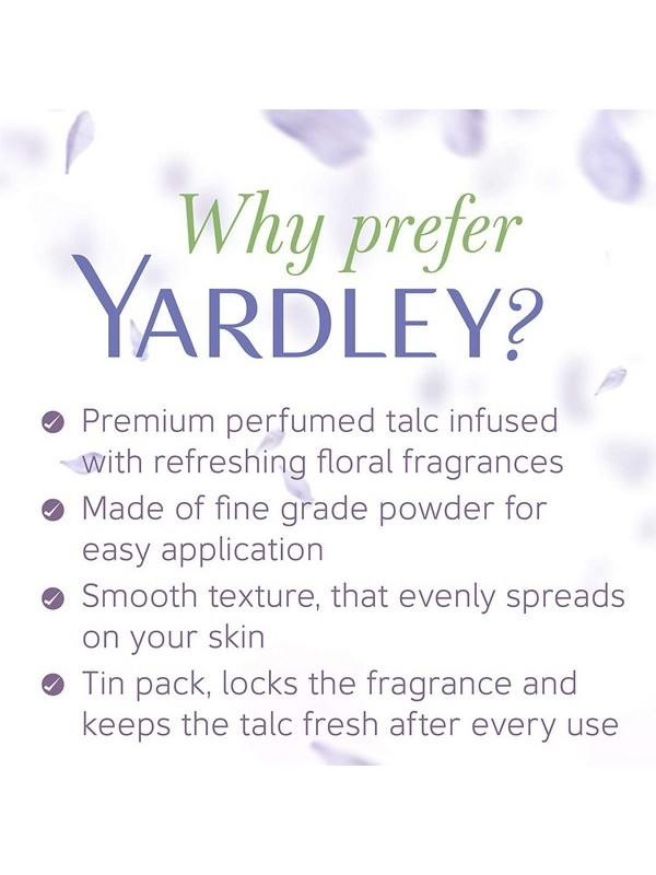 Yardley London English Lavender Talc For Women - 100 Gm