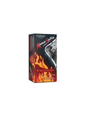 Kamasutra Pleasure Series Condoms For Men (Intensity Condoms, Dual Texture, Dotted And Ribbed) - 12 Condoms