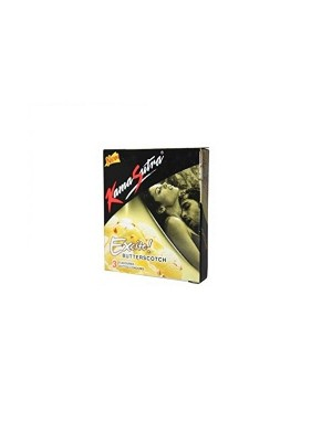 Kamasutra Excite Butterscotch Dotted Condom 3S