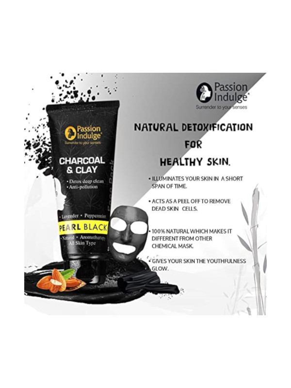 Passion Indulge Activated Charcoal & Clay Pearl Black Face Pack 100 gm