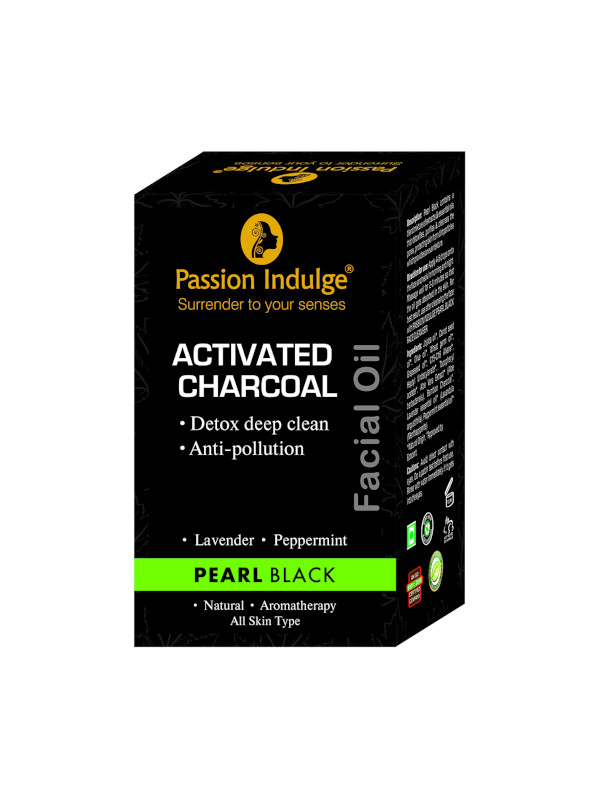Passion Indulge Activated Charcoal Pearl Black Facial Oil 10 ml (10 ml)