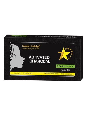 Passion Indulge Activated Charcoal Pearl Black 7 Star Facial Kit 250 gm