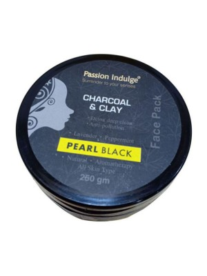 Passion Indulge Activated Charcoal & Clay Pearl Black Face Pack 250 gm