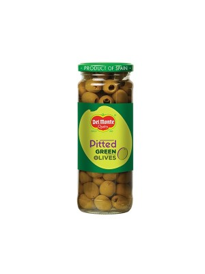 Del Monte Green Pitted Olives 450 gm