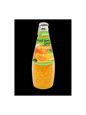 U Globe Basil Seed Drink Orange (300 ml)