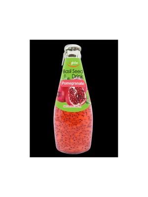U Globe Basil Seed Drink Pomegranate (300 ml)