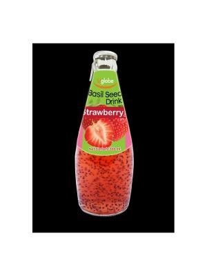 U Globe Basil Seed Drink Strawberry (300 ml)