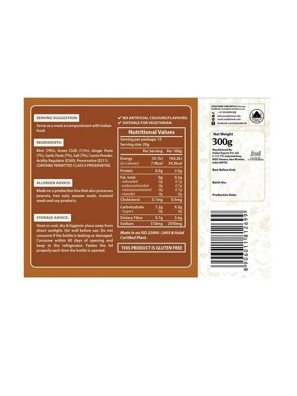Fazlani Foods Mint Chutney 300 gm
