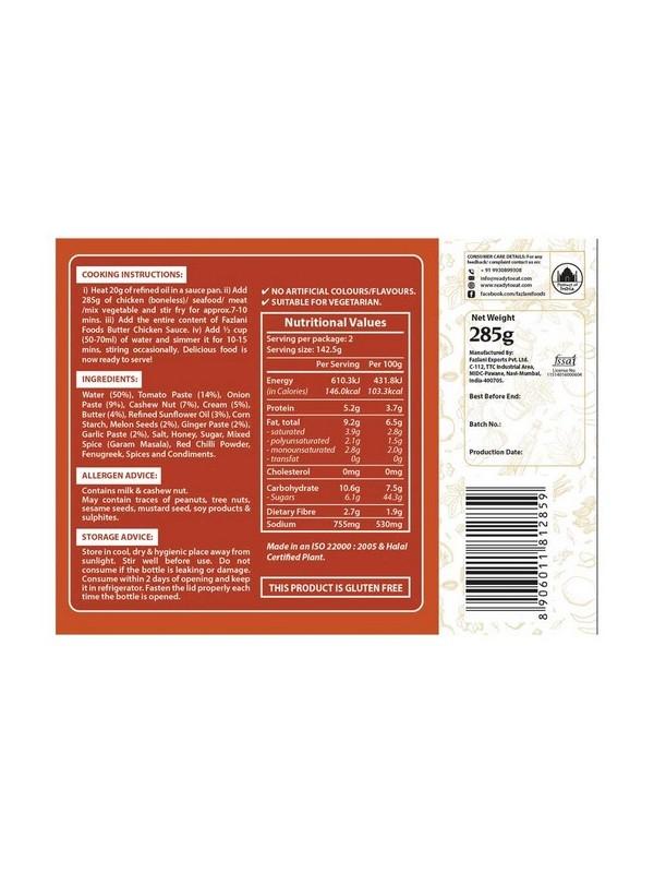 Fazlani Foods Butter Chicken Sauce 285 gm