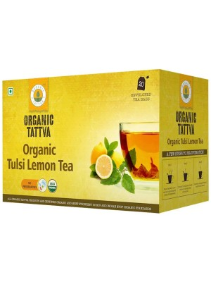 Organic Tattva Organic Tulsi Lemon Tea (20 teabags) 40GM