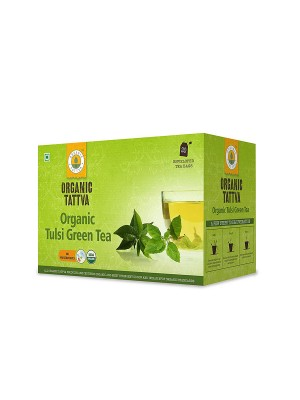 Organic Tattva Organic Tulsi Green Tea (20 teabags) 40GM