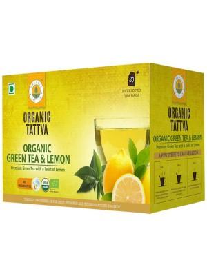 Organic Tattva Organic Green Tea & Lemon 40 gm