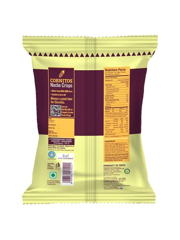 Cornitos Nacho Crisps - Sour Cream & Onion 60 gm