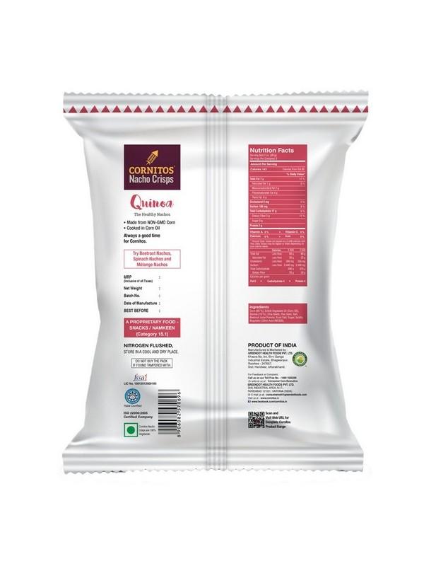 Cornitos QuinoaNachos Crisps 70 gm