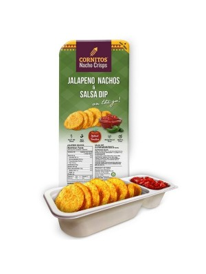 Cornitos Jalapeno Nachos And Salsa Dip Tray 70 gm