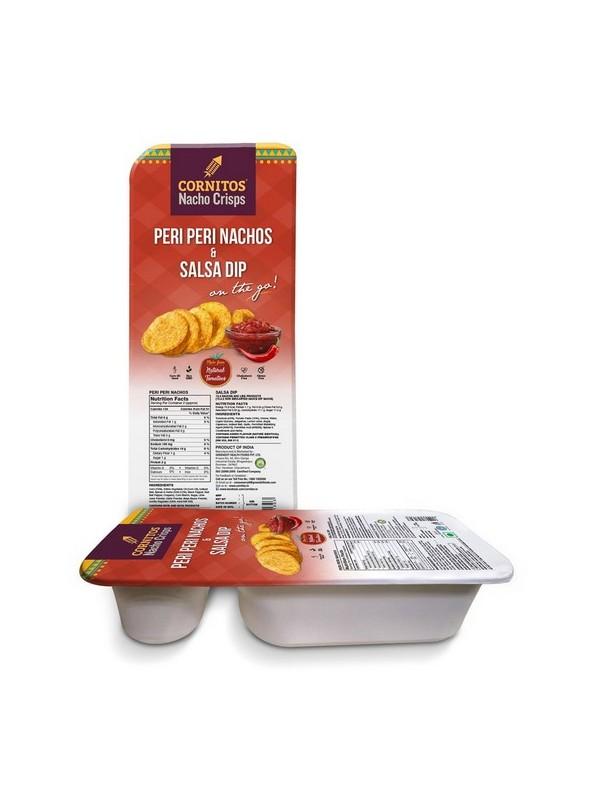 Cornitos Peri Peri Nachos And Salsa Dip Tray 70 gm