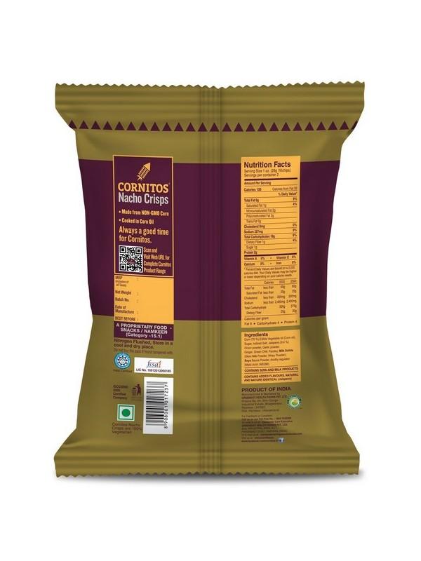 Cornitos Nacho Crisps - Sizzlin Jalapeno 60 gm