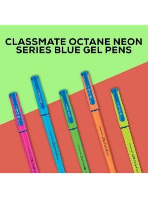 Octane Neon Colour (Blue) Gel Pen (10 Pieces)